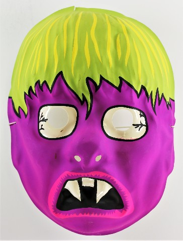 Vintage Fanged Purple Monster Halloween Mask AJ Quality 1980s Zombie Vampire
