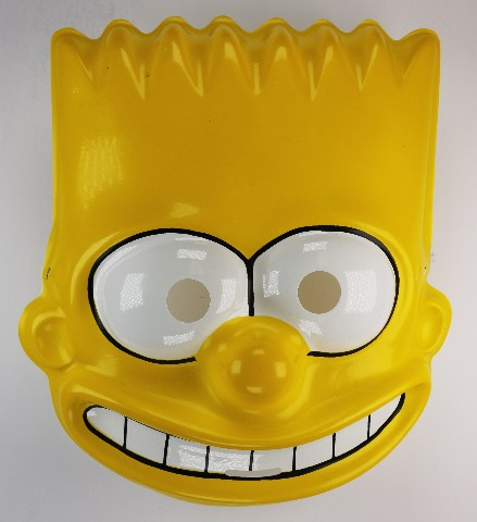 Vintage Ben Cooper Bart Simpson Halloween Mask 1989 The Simpsons Y169