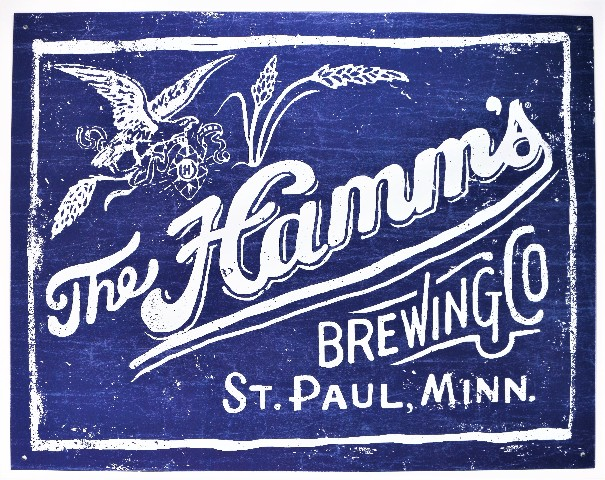 The Hamms Brewing Company St Paul Minnesota Tin Metal Sign Hamm's Beer Brewery Brew