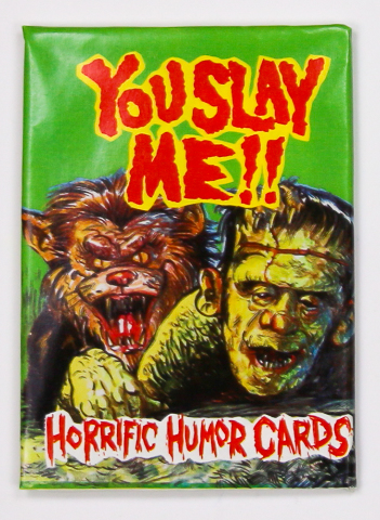 You Slay Me Vintage Monster Trading Cards ONE Wax Pack 1992 Frankenstein Wolf