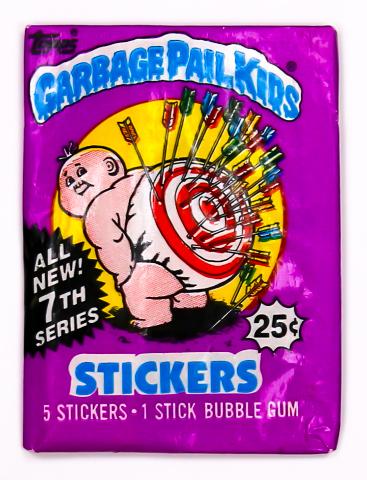 Garbage Pail Kids Series 7 Vintage Trading Cards ONE Wax Pack 1987 GPK Kid