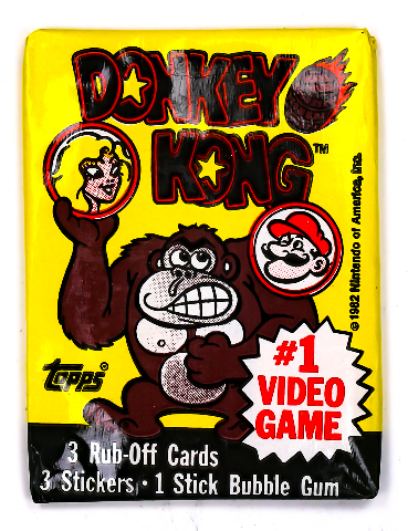 Donkey Kong Vintage Trading Cards ONE Wax Pack 1982 Topps Nintendo Mario NES
