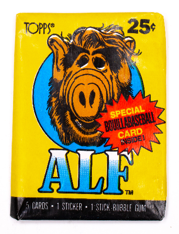 ALF Series 1 Vintage Trading Cards ONE Wax Pack 1987 Topps NBC