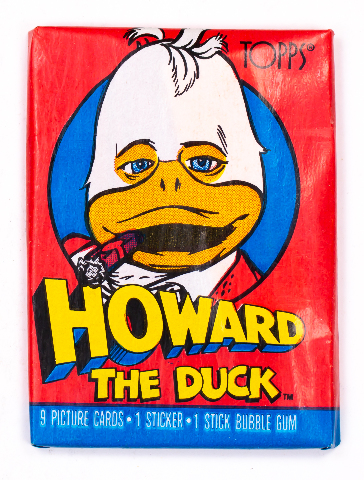 Howard the Duck Vintage Trading Cards ONE Wax Pack 1986 Topps Movie