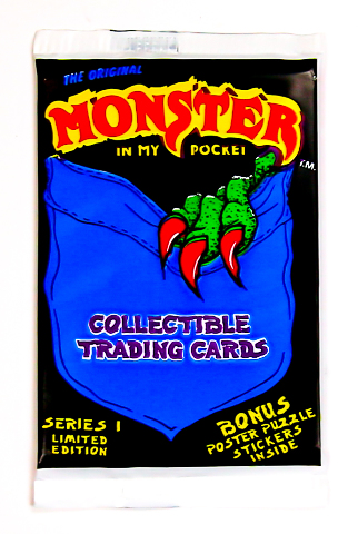 Monster in My Pocket Vintage Trading Cards ONE Wax Pack 1991
