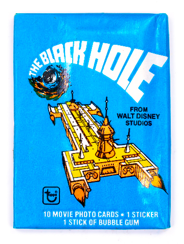 Disney The Black Hole Vintage Trading Cards ONE Wax Pack 1979 Topps