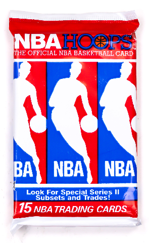NBA Hoops Series 2 Vintage Trading Cards ONE Pack 1990 -1991 Basketball Jordan