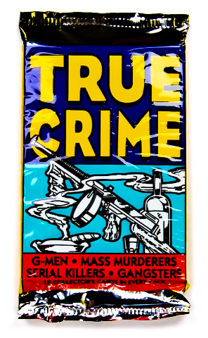 True Crime Series 1 Vintage Trading Cards ONE Pack 1992 Serial Killers Murder