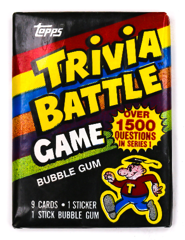 Trivia Battle Vintage Trading Cards ONE Wax Pack 1984 Topps Family Game Night
