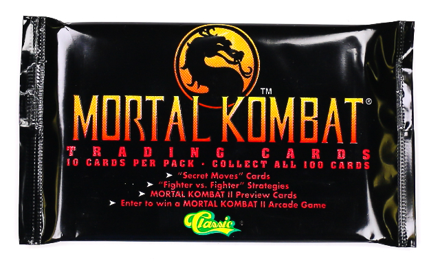 Mortal Kombat Vintage Trading Cards ONE PACK 1992 Midway Sega Nintendo Classic