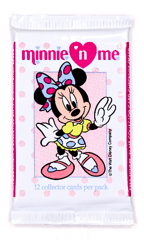 Minnie n Me Vintage Trading Cards ONE Pack 1991 Disney Mickey Mouse