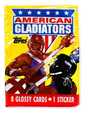 American Gladiators Vintage Topps Trading Cards ONE Wax Pack 1991 Sports