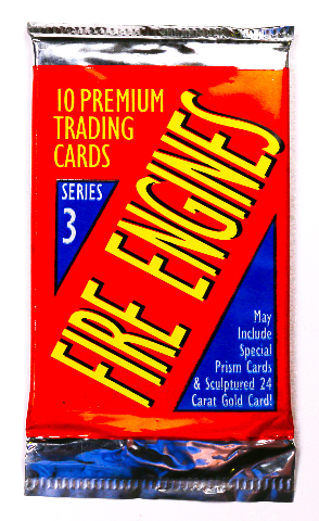 Fire Engines Vintage Trading Cards ONE Pack 1994 Firetruck Firefighter