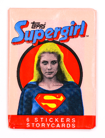 Supergirl Vintage Trading Cards ONE Wax Pack 1984 Topps DC Comics Superman