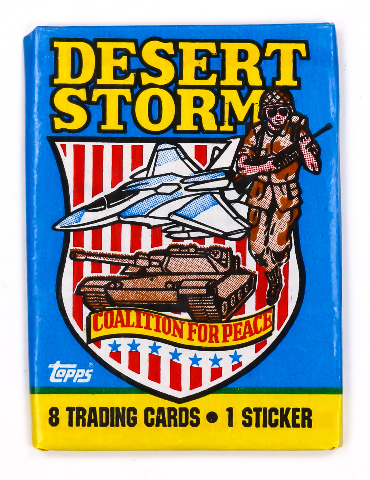 Desert Storm Series 1 Vintage Trading Cards ONE Wax Pack 1991 Topps Military