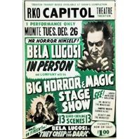 Bela Lugosi Horror and Magic Show Movie Poster FRIDGE MAGNET Vintage Style AD i4