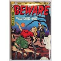 Beware Comics No 14 FRIDGE MAGNET Pin Up Girl Comic Book Zombies 50s