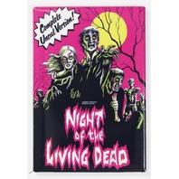 Night Of The Living Dead Movie Poster FRIDGE MAGNET Zombies Romero Uncut