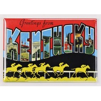 Greetings From Kentucky Postcard FRIDGE MAGNET KY Louisville Lexington Richmond Frankfort