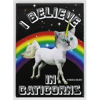 I Believe in Caticorns FRIDGE MAGNET Cat Humor Funny Godzilla Cat G23