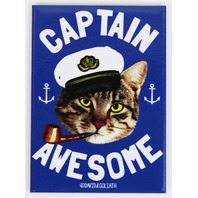 Captain Awesome FRIDGE MAGNET Cat Humor Funny G24