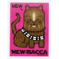 Mew-Bacca FRIDGE MAGNET Star Wars Chewbacca Cat Humor Funny G25