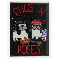 Pugs n Roses FRIDGE MAGNET Pug Dog Humor Funny Guns n Roses G30