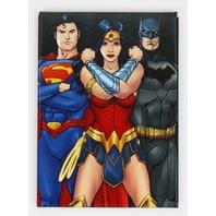 Justice League Batman Wonder Woman Superman FRIDGE MAGNET DC Comics H33