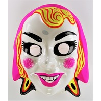 Vintage Pink Gypsy Ghost Halloween Mask Monster Witch Y216