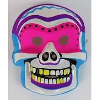Vintage Sugar Skull Halloween Mask Skeleton 1980s Neon Y213
