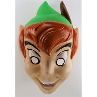 Vintage Disney Peter Pan Halloween Mask 1980s Cesar Tinkerbell Hook Costume Y227