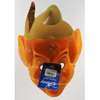 Vintage Disney Peter Pan Halloween Mask 1980s Cesar Tinkerbell Hook Costume Y227