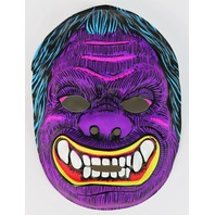 Vintage Purple Monster Halloween Mask Neon 1980's Gorilla Ape Y210