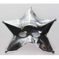 Silver Star Man Halloween Mask Spaceman Celestial Solar System