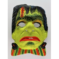 Vintage Ben Cooper Frankenstein Halloween Mask Universal Monsters 1970s Y203