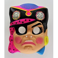 Vintage Girl Pirate Halloween Mask Neon Pirates Ship