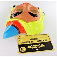 Vintage Blonde Gypsy Witch Halloween Mask 1960s Safety Glow Safety-Glow