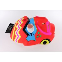 Vintage Red Indian Halloween Mask Aboriginal Native American Neon Y191
