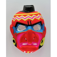 Vintage Red Indian Halloween Mask Aboriginal Native American Neon
