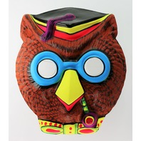 Vintage Wise Owl With Pipe Halloween Mask School House Rock Tootsie Roll Pop