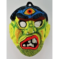 Vintage Cyclops Monster Halloween Mask Third Eye Scary Ghoul