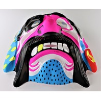 Vintage Neon Pink Pirate Halloween Mask Pirates Ship Mustache Y174