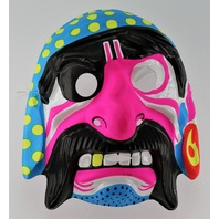 Vintage Neon Pirate Halloween Mask Pirates Ship Mustache