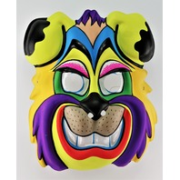 Vintage Cartoon Dog Halloween Mask Smiling K9 Beast