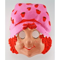 Vintage Strawberry Shortcake Halloween Mask Early 1980s Cartoon Y169