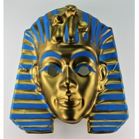 Vintage King Tut Egyptian Mummy Halloween Costume Mask Egypt Pharaoh Y168