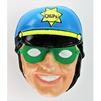Vintage Ben Cooper CHiPs Halloween Mask CHIPS Highway Patrol Police