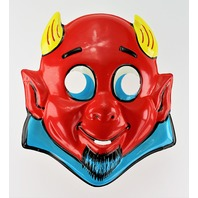 Vintage Cartoon Red Devil Halloween Mask Kid Demon Y163