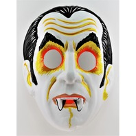 Vintage Collegeville Vampire Dracula Halloween Mask Universal Monsters 1970s Y183