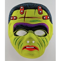 Vintage Frankenstein Halloween Mask Frank Monster 1970's Costume Y158